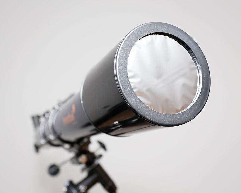 В комплекте с Levenhuk Strike 900 PRO поставляется высококачественный солнечный фильтр для наблюдения Солнца