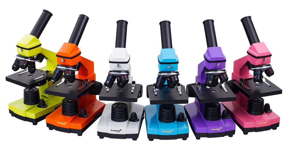 Микроскопы Levenhuk Rainbow 2L NG: шесть ярких цветов на любой вкус!