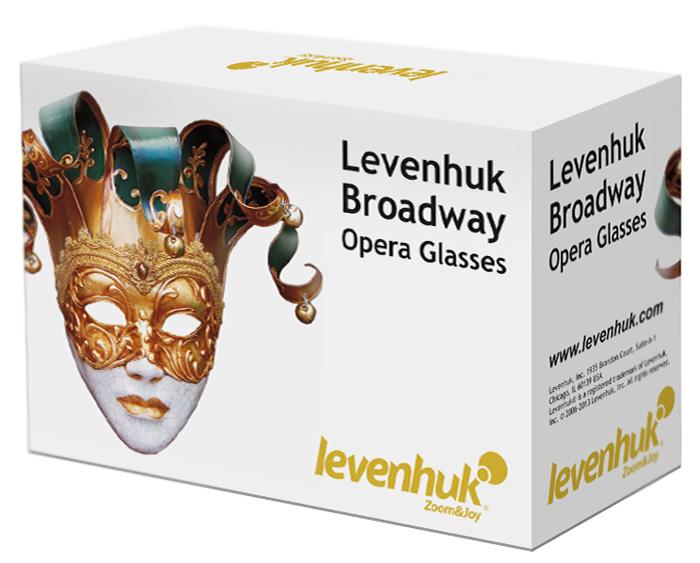 Стильная упаковочная коробка театральных биноклей Levenhuk Broadway