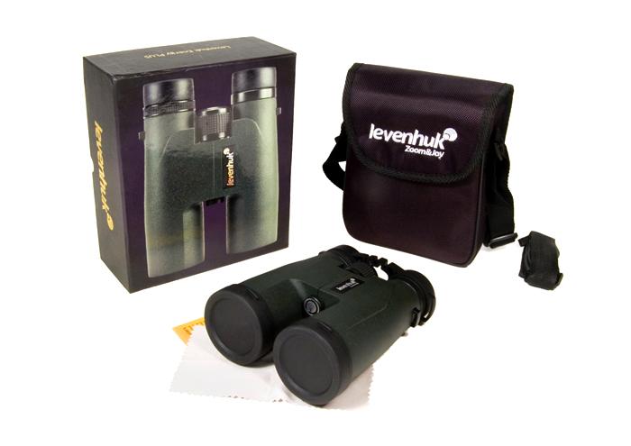 Бинокль Levenhuk Energy PLUS 12x50: в комплекте: бинокль, ремешок, чехол, защитные крышки на окуляры и объективы, салфетка для оптики, инструкция и гарантийный талон